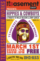 Tennessee Brew Works Hippies & Cowboys Beer Release Party: A Tribute to Willie Nelson and Jerry Garcia