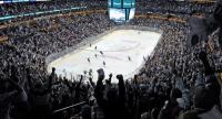 Large sports croud at Bridgestone Arena in downtown Nashville Tennessee