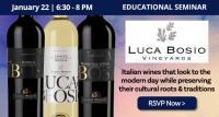Educational Seminar: Luca Bosio Italian Wine