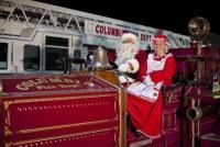 See Santa and Mrs Clause at the Columbia Christmas Parade