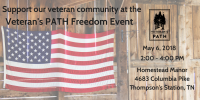 Support our veteran community at the Veteran's PATH Freedom Event
