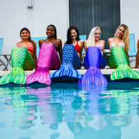 mermaid swimming class