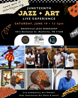 Juneteenth Jazz and Art Live Experience