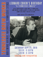 Tennessee Brew Works Songs on Top Concert Series – A Tribute to Leonard Cohen
