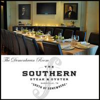 The Demonbreun Room at The Southern Steak & Oyster is an intimate and inviting space