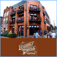 Party at the 3 story Honky Tonk Central in downtown Nashville Tennessee