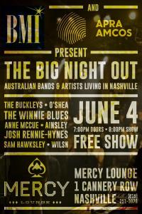 8 Off 8th: the Big Night Out - Australian Bands & Artists Living in Nashville at Mercy Lounge
