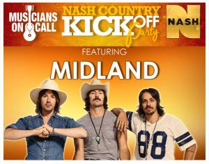 NASH Country KickOff Party feat. Midland & more at Mercy Lounge