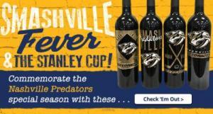 Nashville Predators Limited Edition Etched Wine Bottles