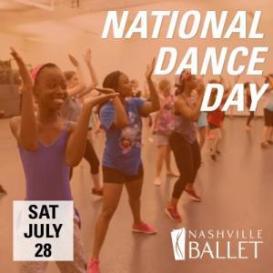 National Dance Day at Nashville Ballet Saturday, July 28