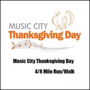 Music City Thanksgiving Day 4/8 Mile Run/Walk