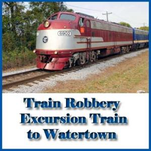Train Robbery Excursion Train to Watertown