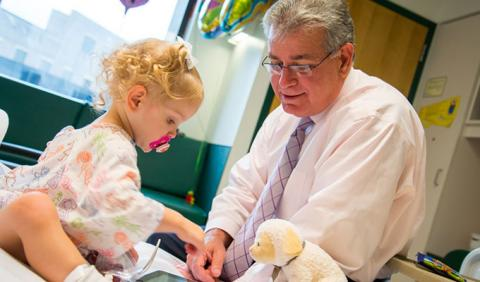 Little Girl with Doctor in Nashville's Childrens Hospital