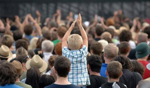 Kid in Crowd enjoying a Nashville Festival
