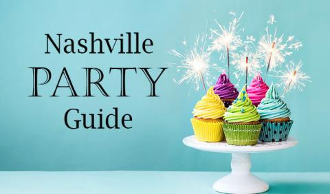 Nashville Party Cake, Streamers and sparklers