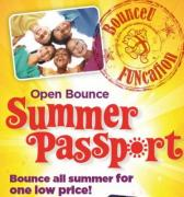 Unlimited Bouncing Monday - Saturday for $50 May - August 31 Pass Prices: $50 per person, passes may not be shared Summer Schedule Begins Monday, May 23: Monday - Friday  10:00 am - 12:00 pm  1:00 - 3:00 pm  3:00 - 6:00 pm  Saturday 8:30 - 10:00 am  Cosmic Bounce Friday: 6:30 - 8:30 pm
