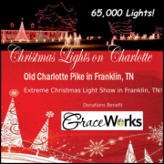 Christmas Lights on Old Charlotte Pike in Franklin, TN