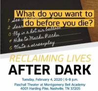 Reclaiming Lives After Dark
