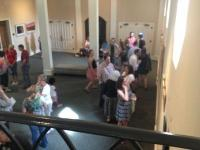 Artists' reception in the Marnie Sheridan Gallery at Harpeth Hall School.