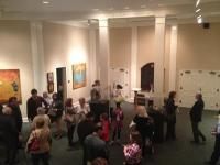 Artists' reception in the Marnie Sheridan Gallery at Harpeth Hall School, Nashville