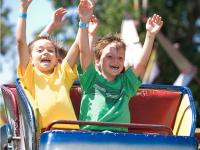 Kids enjoying the Williamson County Fair