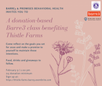 Promise Week: Donation-Based Barre3 Class