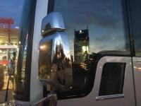 Star Bus Suites with the city of Nashville in the window