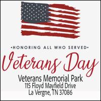 Veterans Day Ceremony at Veterans Memorial Park in Lavergne Tennessee