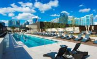 View of Nashville from the pool deck at Omni Nashville Hotel