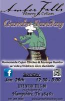 Gumbo Sunday at Amber Falls Winery
