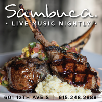 Enjoy Sambuca Restaurant & Live Music in downtown Nashville
