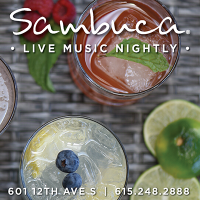 Enjoy Live Music 7 days a week at Sambuca Restaurant in downtown Nashville