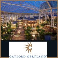 Inside Gaylord Opryland Hotel in Nashville Tennessee