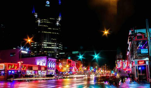 Streets of Nashville Lower Broadway & 2nd Ave