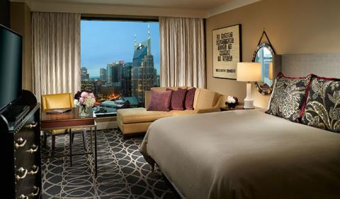 View of Nashville from Omni Hotel in downtown Nashville Tennessee