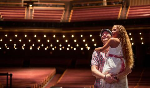 Family visiting the Grand Ole Opry in Nashville Tennessee