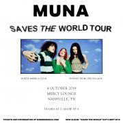 MUNA SAVES THE WORLD TOUR at Mercy Lounge