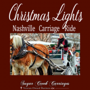 Christmas Lights in downtown Nashville by Carriage Ride