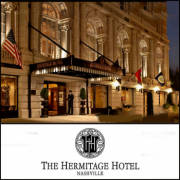 The Hermitage Hotel in downtown Nashville Tennessee