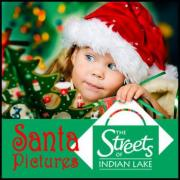 Kids get pictures with Santa at the Streets of Indian Lakes in Hendersonville TN
