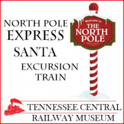 North Pole Express Train Ride in Nashville Tennessee